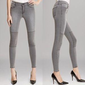 J.Brand Nicola Onyx Moto Skinny Jeans